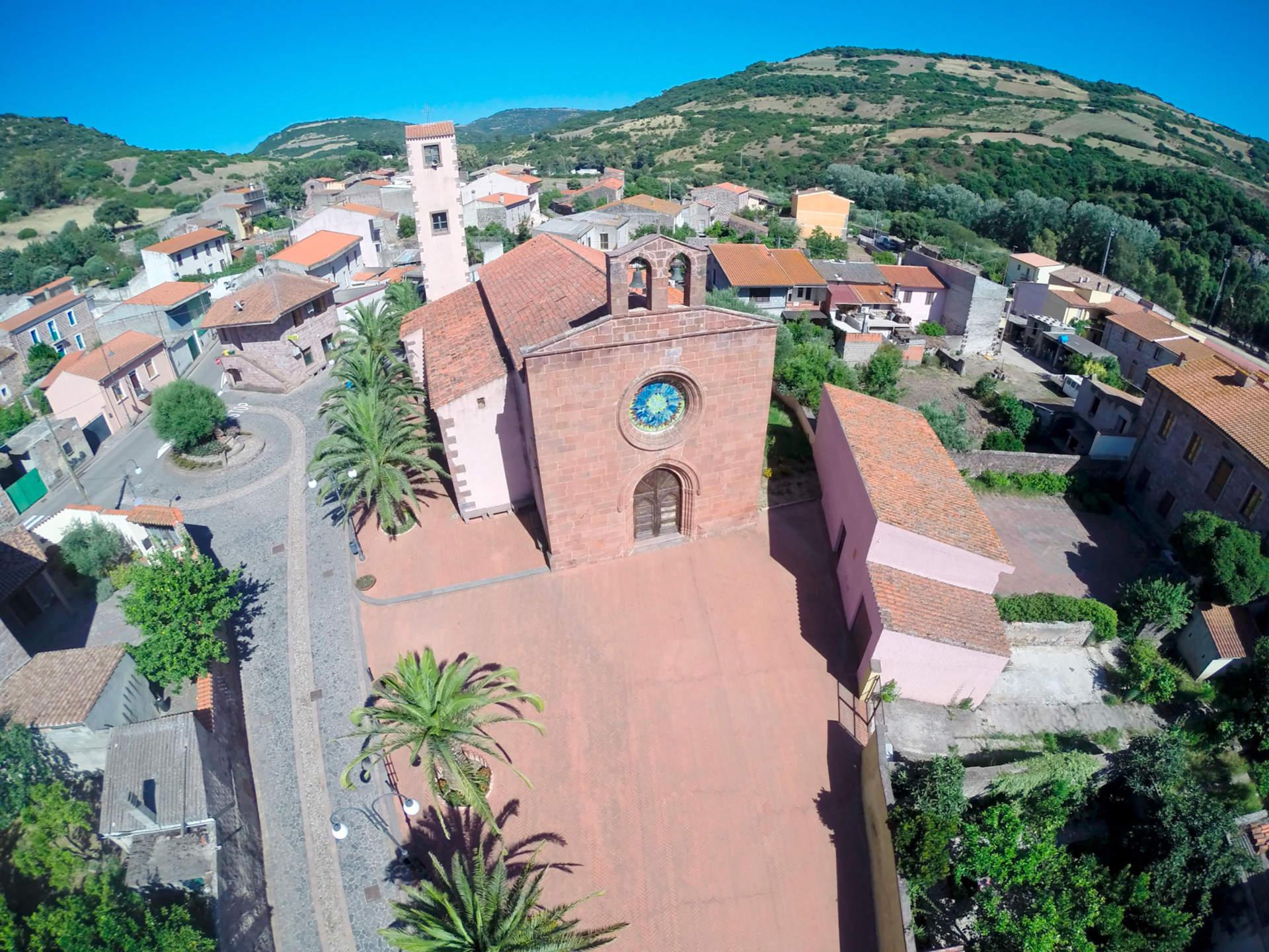 Àllai - Foto area della Chiesa Parrocchiale